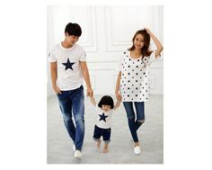 Fashion New 2015 Summer Family Clothing Casual Star Tops, Father Mother Baby T Shirts, Mother And Daughter Family Matching from Glacier315,$9.03 | DHgate.com