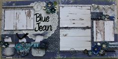 Good morning and happy Friday! I have to confess that this is one of my favorite layouts of all time. I just love the denim, the weathered. Baby Scrapbook Pages, Scrapbook Sketches, Scrapbook Page Layouts, Scrapbook Paper, Scrapbooking Ideas, Scrapbook Generation, Picture Layouts, Amazing Grace, Animals For Kids