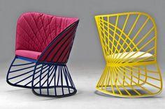 fauteuil sol-constance guisset- Le mobilier en structure filaire sur Parfums de déco le blog