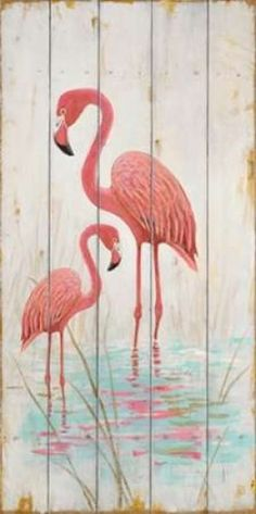 Flamingo (Pink) Duo Poster Print by Arnie Fisk (24 x 48)