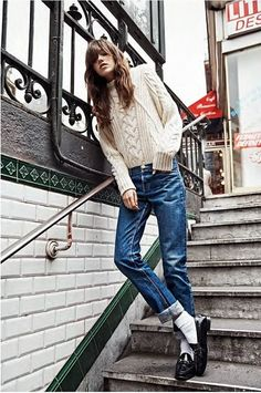 'Paris En Douce' - capture this denim look with ease -- loafers are a must - I prefer penny loafers with this outfit.