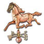 Medium Horse 3-D Copper Weathervane