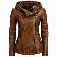 Danier ladies brown color pure leather jacket 2015