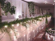 Icicle Wedding Lights-12 feet-150 Lights White Cord Table draping and Event Lights Six Star Sales http://www.amazon.com/dp/B001BFD1Z4/ref=cm_sw_r_pi_dp_8XYgvb1DM37NV