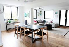George & Bec's living & dining room http://www.thestyleproject.com.au/blog/the-block-room-reveal-living-dining-rooms/