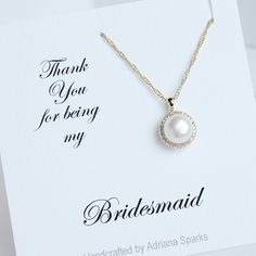 Gold Pearl halo necklace!  by AdrianaSparksBridal