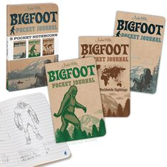 Bigfoot Pocket Journals