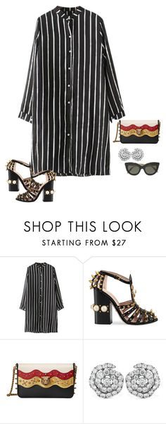 """""""Untitled #1880"""" by quaybrooks on Polyvore featuring Chicnova Fashion, Gucci and Victoria Beckham"""