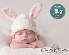 Newborn Bunny Hat Selected Top 12 Etsy Gift by door TheTinyToppers, $28.00