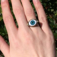 Blue Eyeball Ring NWT NWT from The Purple Temple. Super unique and cool. Very detailed! Ask questions. OFFERS WELCOME! The Purple Temple Jewelry Rings