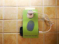 Cell Phone Holder Wall Socket NOTON FINGERPRINT by econdesign Cell Phone Holder, Landline Phone, Gadgets, Sleeve, Wall, Manga, Phone Holder, Walls, Finger