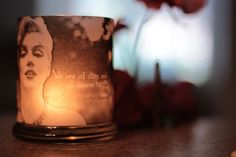 DIY vellum candle wrap. I think I might use this idea for this years relay for life.
