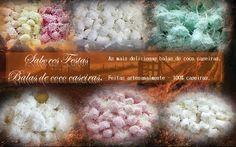 #Balas de coco caseiras #doces finos.  Feitas artesanalmente - 100% caseiras.