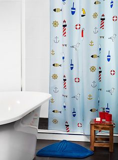 Simons Bar Harbor Shower Curtain