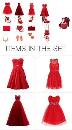 """""""red outfits for prom"""" by valeriek22634 on Polyvore featuring art"""