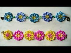 Детские браслеты из бисера видео - YouTube
