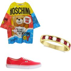 A fashion look from March 2015 featuring Moschino dresses, Vans sneakers and Allurez rings. Browse and shop related looks.