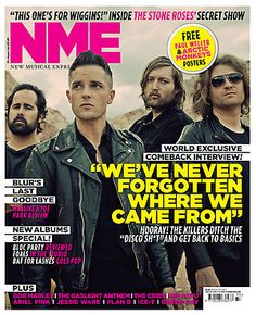NME magazine. World exclusive The Killers interview