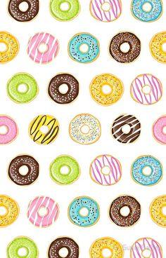 'Tasty Donuts' iPhone Case by SuperBelka Vintage Flowers Wallpaper, Cute Patterns Wallpaper, Cute Wallpaper Backgrounds, Flower Wallpaper, Cute Wallpapers, Iphone Wallpaper, Mini Donuts, Doughnuts, Donut Drawing