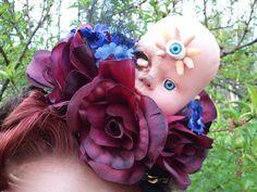 The Original OOAK Creepy Baby Head Fascinator by GhastlyGoverness, $70.00