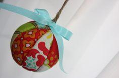 no-sew fabric ball ornament