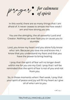 Prayer For Calmness, Prayer For Guidance, Prayer For Peace, Night Prayer, Faith Prayer, God Prayer, Power Of Prayer, Scripture For Peace, Say A Prayer