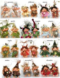 The price refers to a character. When ordering specify: Male or female. Clay Fairies, Elves And Fairies, Flower Fairies, Magical Creatures, Woodland Creatures, Trolls, Biscuit, Kobold, Baby Fairy