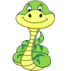 Funny snake cartoon vector 895271 - by dagadu on VectorStock®
