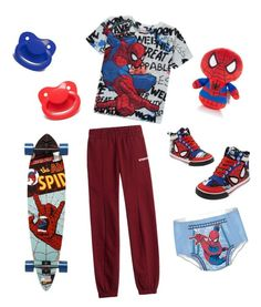 """Spiderman ddlb outfit"" by transboyfanboy ❤ liked on Polyvore featuring George, Vetements, Santa Cruz Skateboards, men's fashion and menswear"
