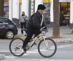 Madonna Photos - Madonna Sightseeing on a Bike in Barcelona - Zimbio