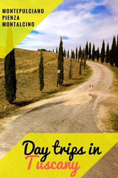 What to expect on a day trip to the picturesque Val D'Orcia towns in the Tuscan countryside !
