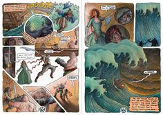 'The Storm' Graphic Novel Double Page