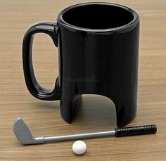 Morning Putt Golfers Coffee Mug Gift Set