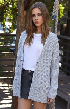 1a7162c7fb Our very own LA Hearts helps you stay on trend for fall with their Dropped  Armhole Chunky Cardigan. This cozy cardigan is complete with a knit fabric