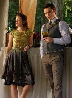 Blair & Chuck- Rufus & Lily's Wedding- Gossip Girl