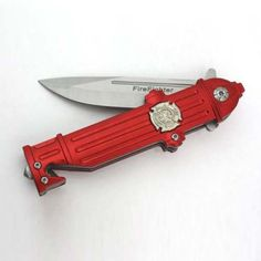 Pocket Knife for Firefighter - Shaped like a fire hydrant, this is a great stocking stuffer gift idea for a fireman gift ideas for him Firefighter Home Decor, Firefighter Paramedic, Volunteer Firefighter, Firefighters Wife, Firefighter Jacket, Firefighter Apparel, Firefighter Wedding, Firefighter Love, Firefighter Quotes