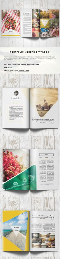 Portfolio Modern Brochure / Catalog 3 on Behance