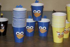 Vasos para tu fiesta Angry Birds! / Angry Birds party cups!