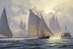 The Paintings of Donald Demers* Foggy Start 24x36 - oil