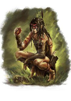 Wild elf Druid by Thepastart