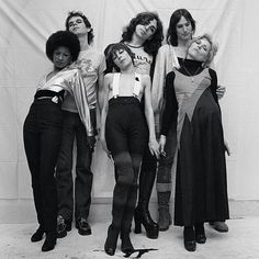 Debbie Harry in the Stilettoes' group with Chris Stein at the back