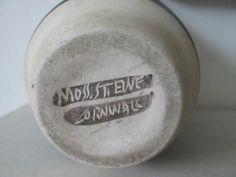 Vintage Bernard Moss, St Ewe Cornwall, Studio Pottery Fish Design Planter