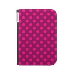 Hot Pink Deep Pink Polka Dot Pattern Girly Trendy Kindle 3 Case