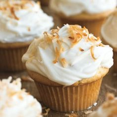 Coconut Cupcakes with Cream Cheese Frosting