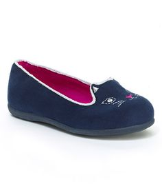 Look what I found on #zulily! Navy Embroidered Catty Loafer #zulilyfinds