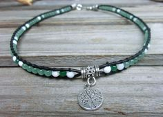 Tree of Life Serenity and Wisdom Choker  by OffOnAWhimJewelry, $44.40