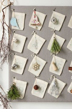 advent calendar... ck use your odd ornaments or tags to make