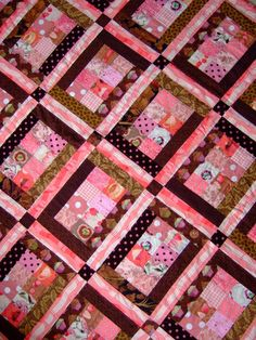 "i saw a quilt like this only the colors were reversed and it was called ""candy box""  loved it!"