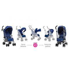 Silla de paseo Vue 2014 azul de Baby Jogger - Silla ligera Reversible