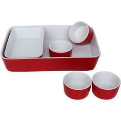 jcp | Euro Ceramica 6-pc. Ceramic Bakeware Set -- yes...RED...$30